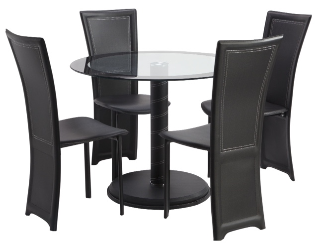 LDLD8012 CAMEO DINING TABLE WITH FOUR CHAIRS